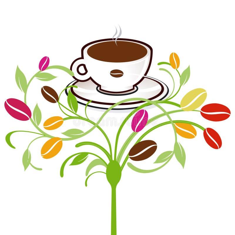 Koffie-installatie stock illustratie