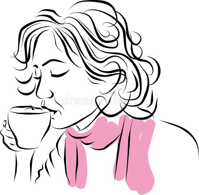 Koffie latte. royalty-vrije illustratie