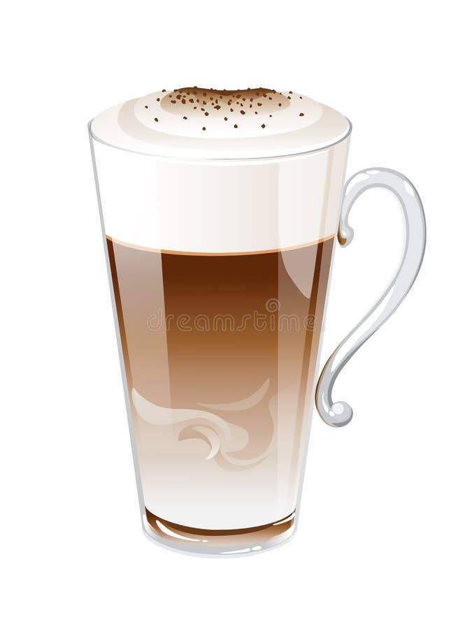 Koffie Latte royalty-vrije illustratie