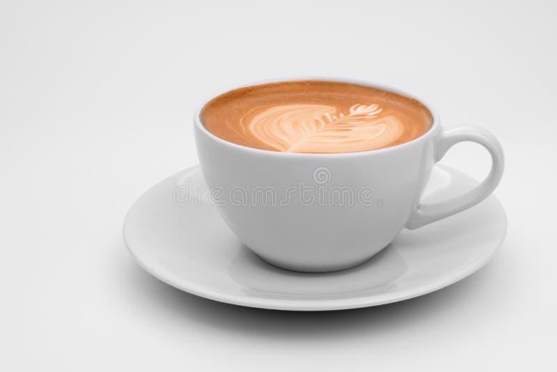 Koffie latte art. stock afbeelding