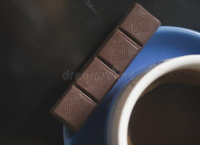 Koffie met de chocolade stock fotografie
