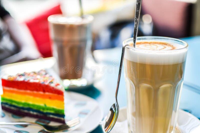 Koffie met dessert royalty-vrije stock fotografie
