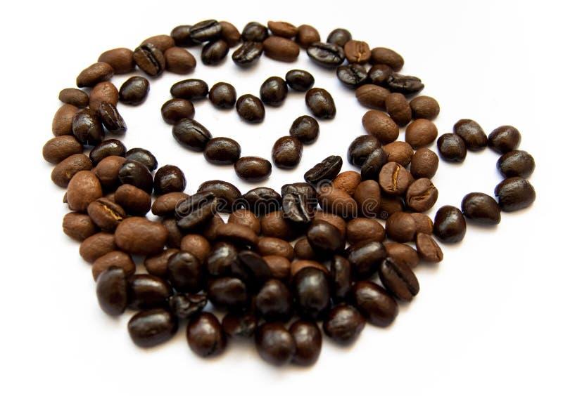 Koffie met hart royalty-vrije stock afbeeldingen