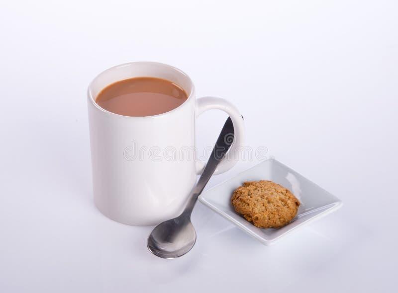 koffie of koffie met koekjes op achtergrond royalty-vrije stock fotografie