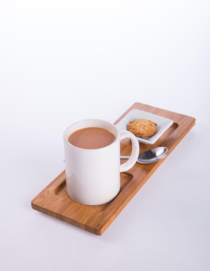 koffie of koffie met koekjes op achtergrond stock fotografie