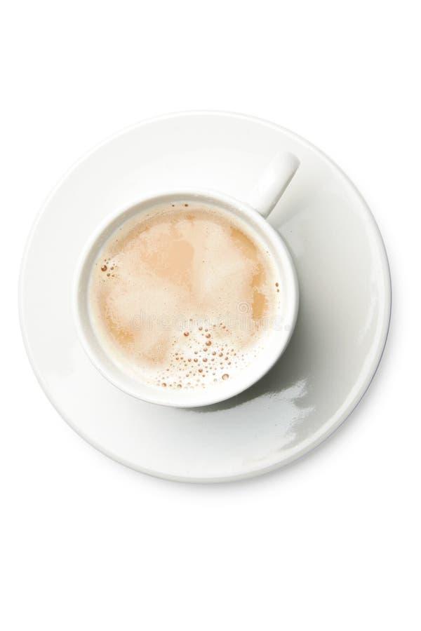 Koffie met melk stock afbeeldingen