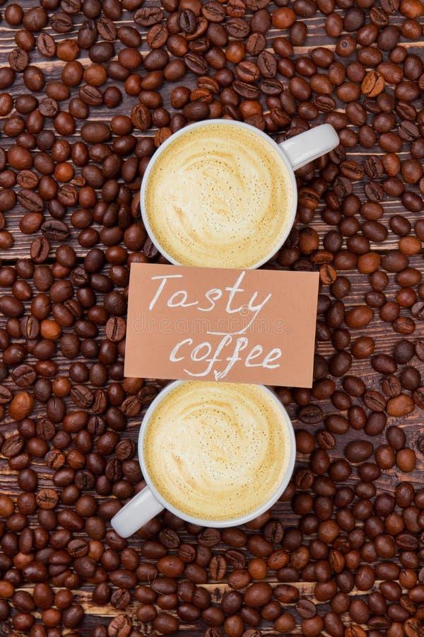 Koffie met melkachtig schuim stock fotografie