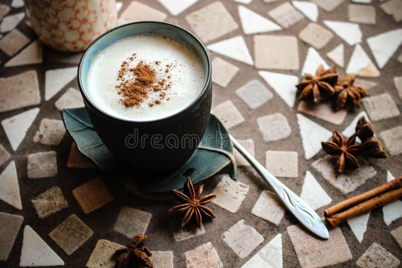 Koffie met room stock afbeelding