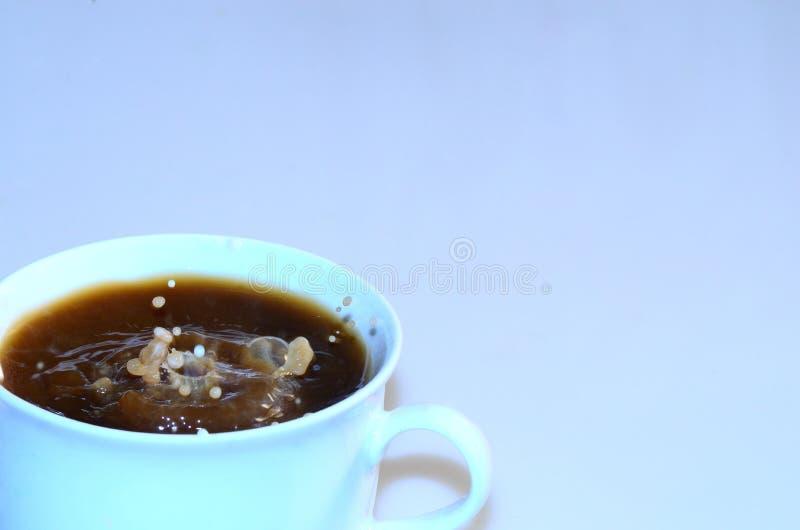 Koffie met wilde dalingen royalty-vrije stock afbeelding