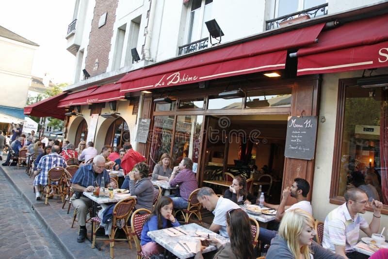 Koffie Montmartre, Parijs Frankrijk stock afbeeldingen