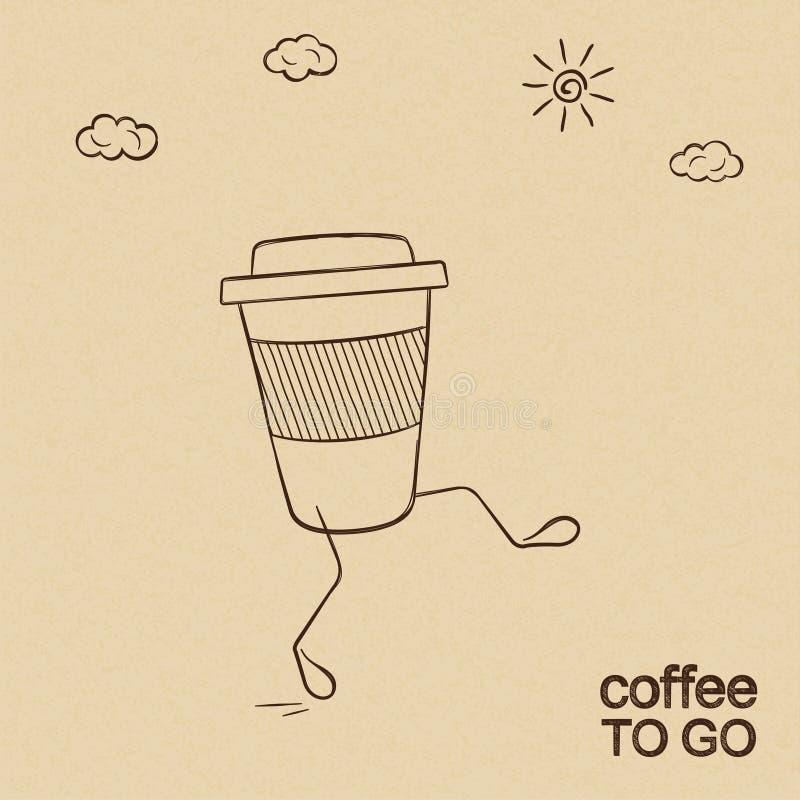 Koffie om te gaan stock illustratie