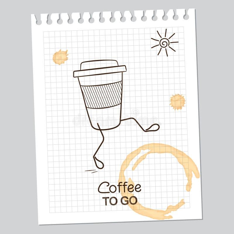 Koffie om te gaan royalty-vrije illustratie