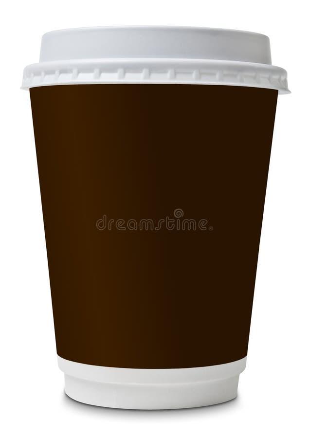 Koffie om te gaan document kop royalty-vrije stock foto