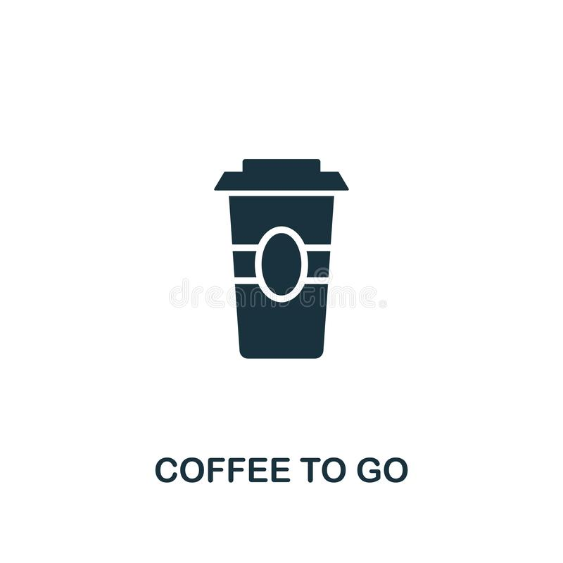 Koffie om te gaan pictogram Het ontwerp van de premiestijl van het pictograminzameling van de coffewinkel UI en UX Pixel perfecte royalty-vrije illustratie