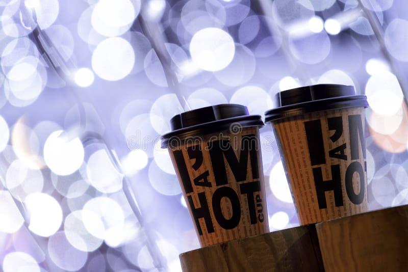 Koffie om weg te halen royalty-vrije stock afbeeldingen