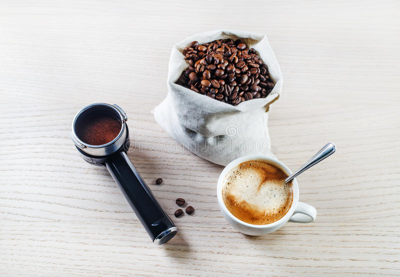 Koffie op de lijst royalty-vrije stock fotografie