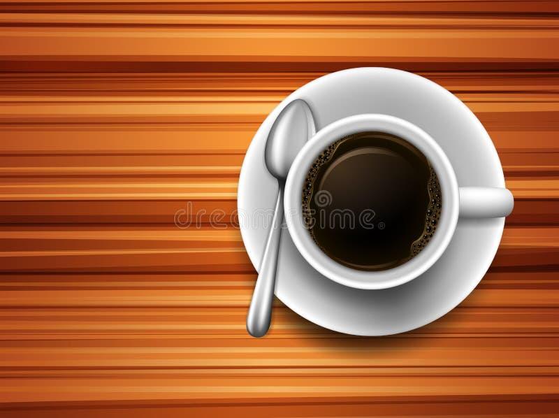 Koffie op een lijst stock illustratie