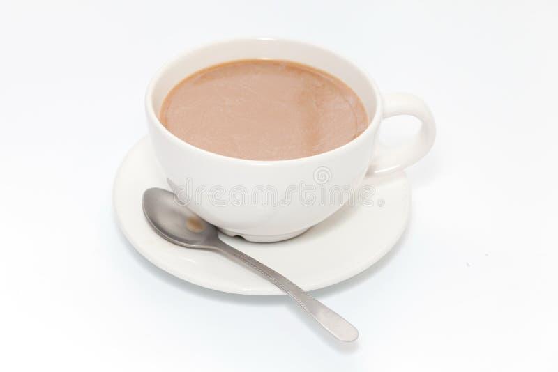 Koffie op witte achtergrond royalty-vrije stock afbeelding