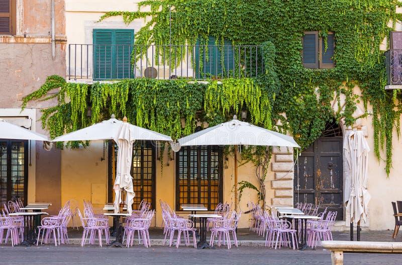 Koffie in piazza Navona. Rome. stock fotografie