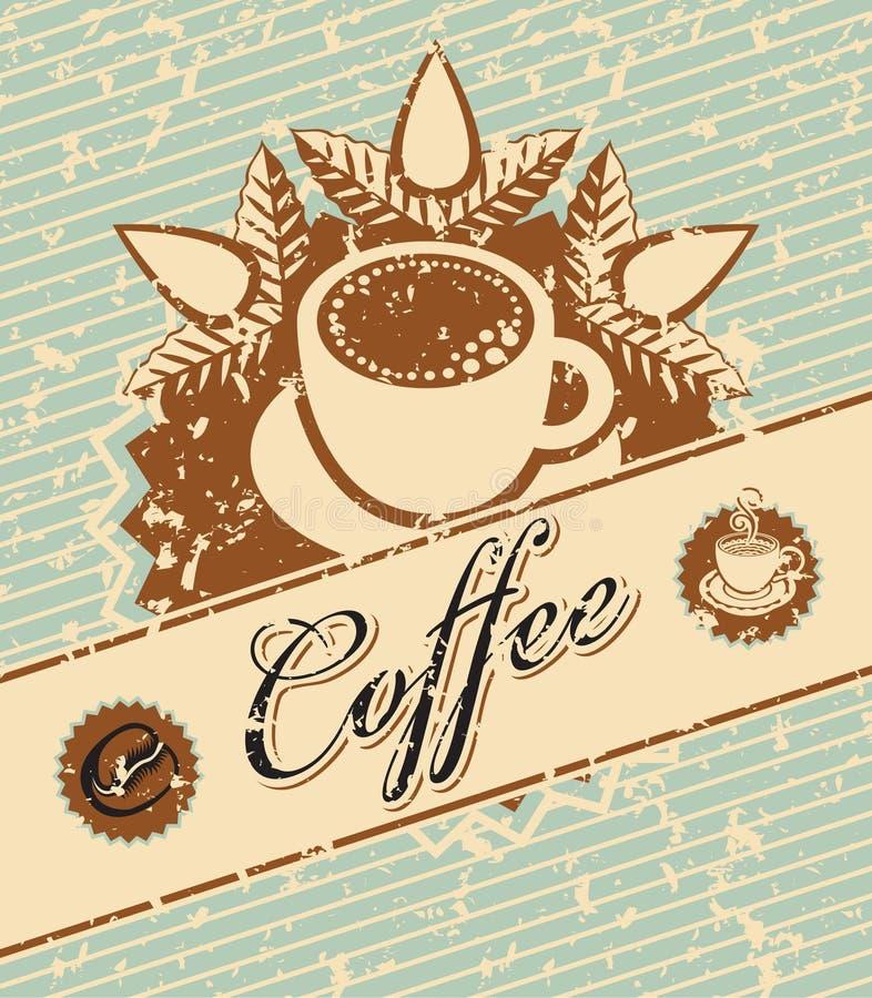 Koffie in retro stijl vector illustratie
