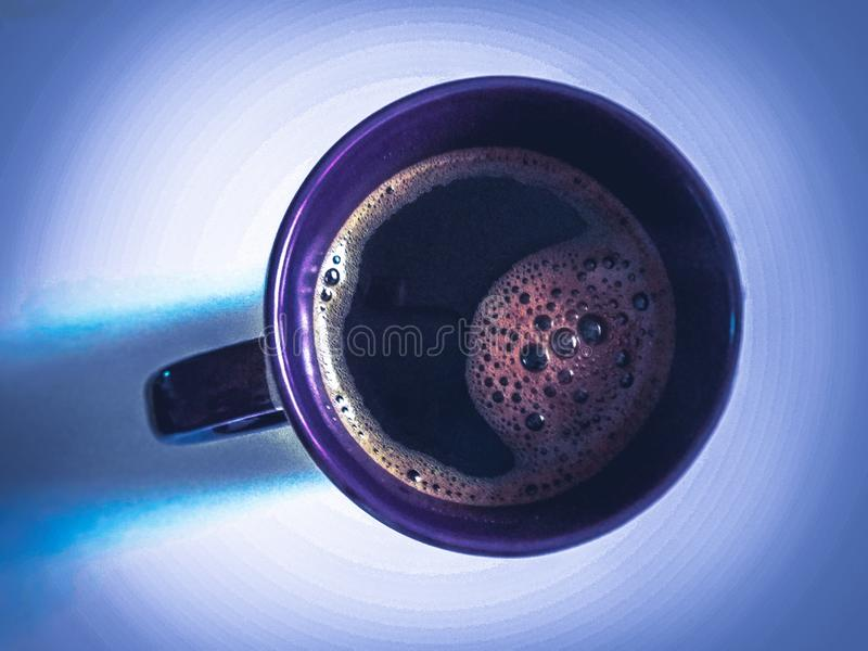 Koffie tevreden stock fotografie