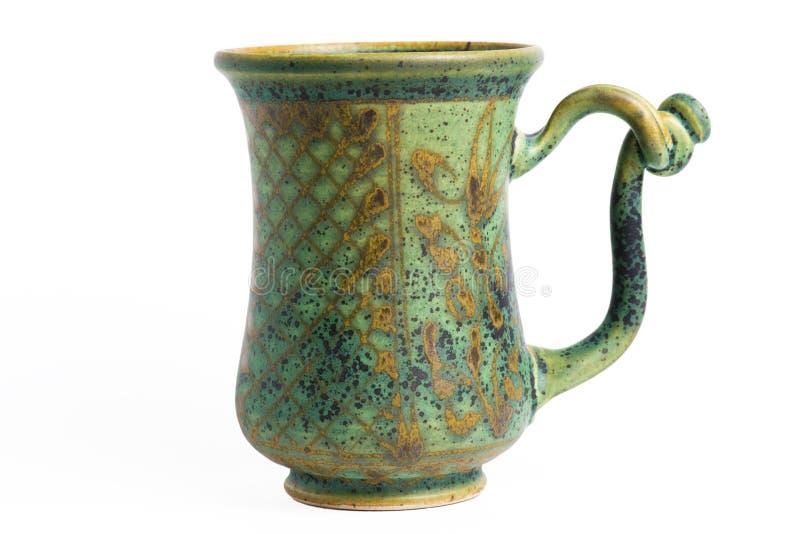 Koffie of thee geïsoleerde mok stock foto's