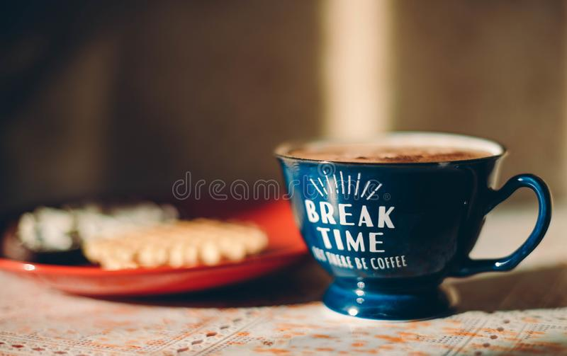 Koffie thuis voor breackfast royalty-vrije stock fotografie