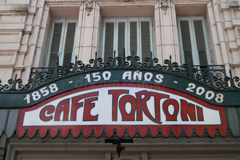 Koffie Tortoni stock afbeeldingen