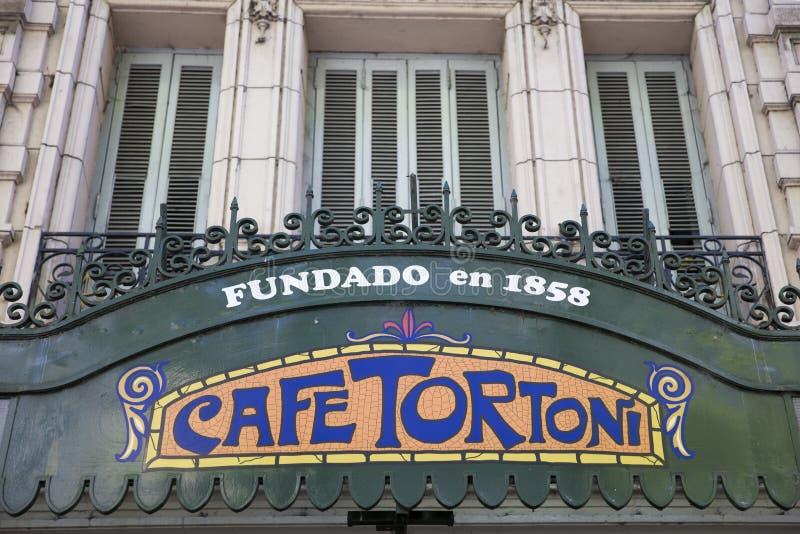 Koffie Tortoni in Buenos aires, Argentinië stock afbeeldingen