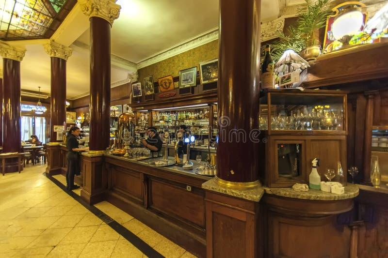 Koffie Tortoni, Buoenos Aires, Argentinië royalty-vrije stock afbeelding