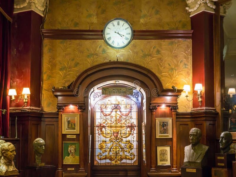 Koffie Tortoni in stadscentrum van hoofdbuenos aires, Argentinië royalty-vrije stock fotografie