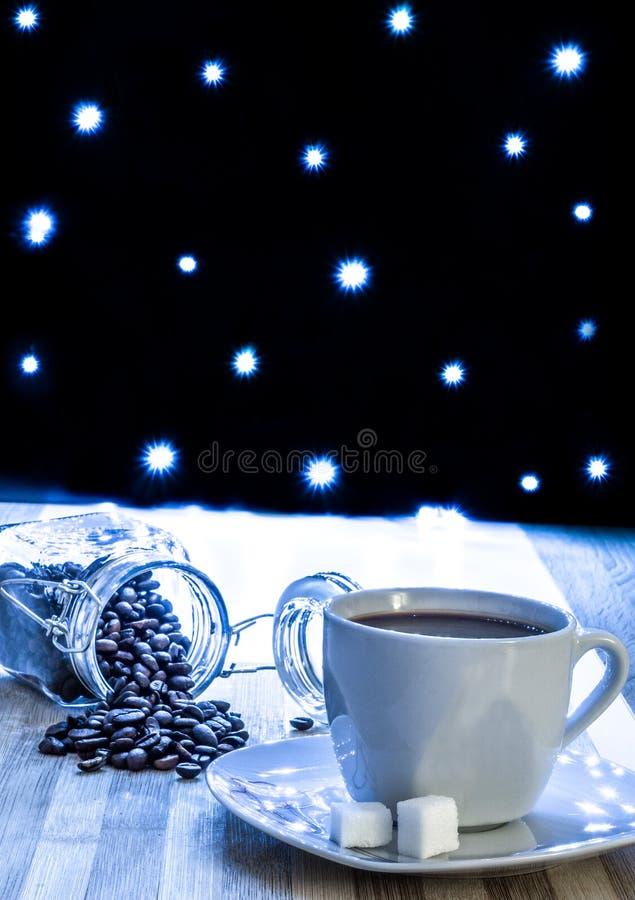 Koffie tussen sterren stock afbeelding