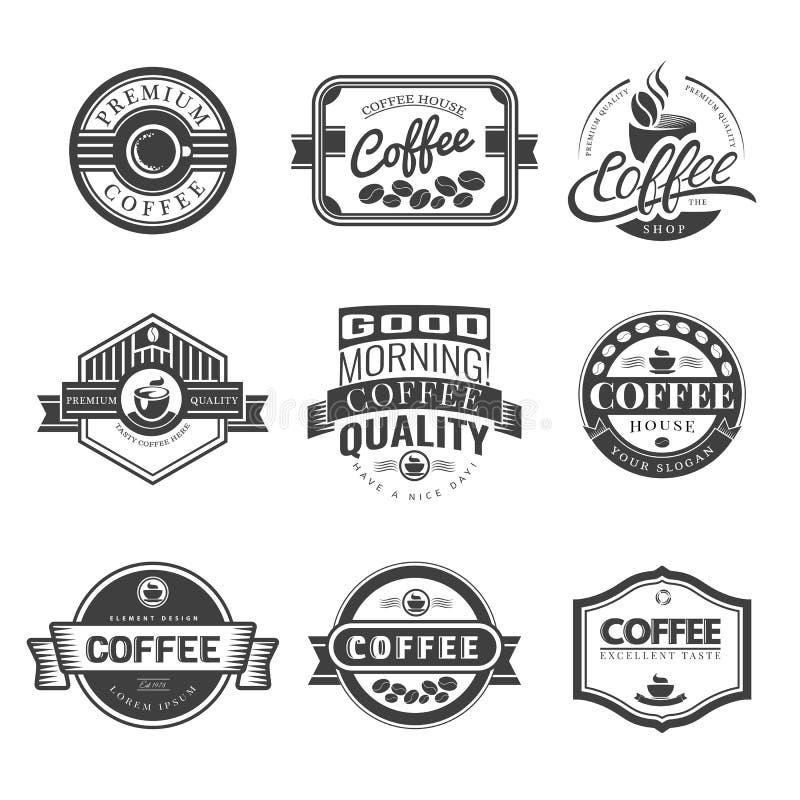 Koffie Uitstekend Embleem stock illustratie