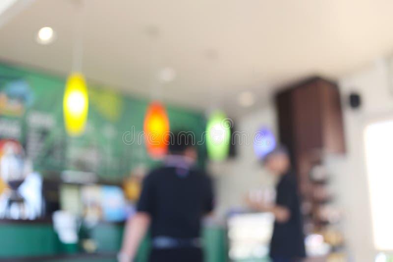 Koffie van abstracte onduidelijk beeldachtergrond royalty-vrije stock foto's