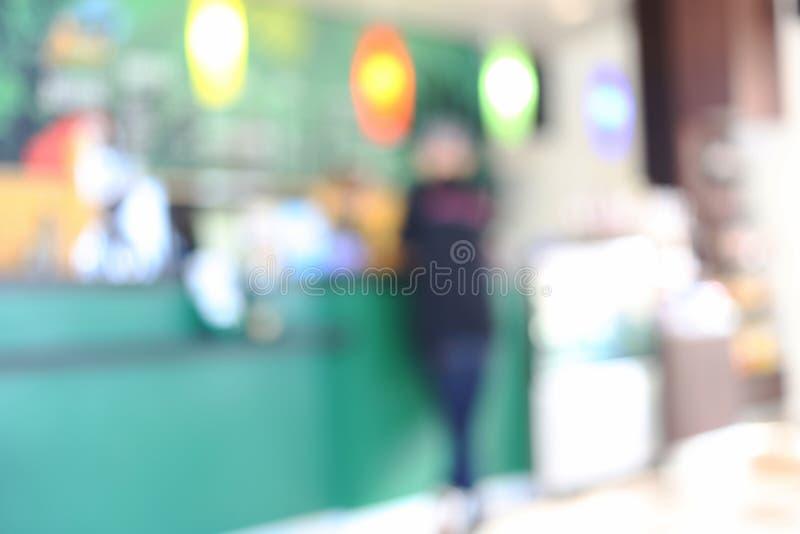 Koffie van abstracte onduidelijk beeldachtergrond stock fotografie