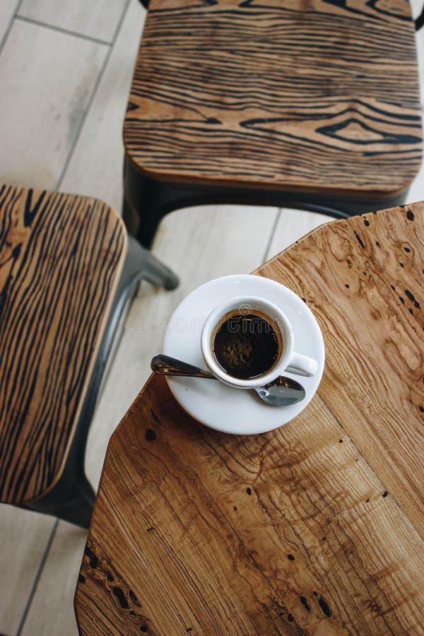 Koffie van de goedemorgen de zoete zonneschijn stock foto's