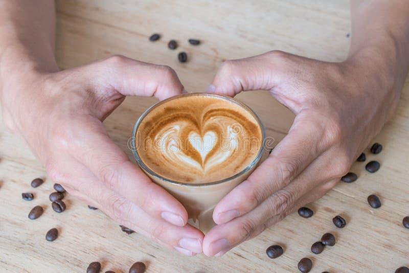 Koffie van liefde royalty-vrije stock afbeelding