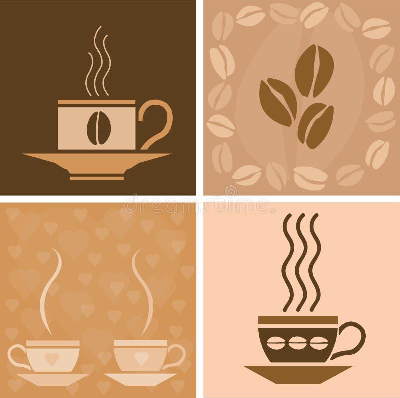 Koffie verwante illustratie vector illustratie