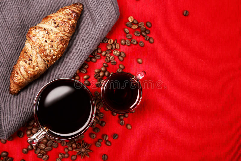 Koffie voor ontbijt royalty-vrije stock afbeeldingen