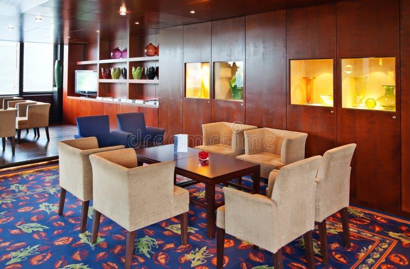 Koffie - zaal in hotel royalty-vrije stock foto's