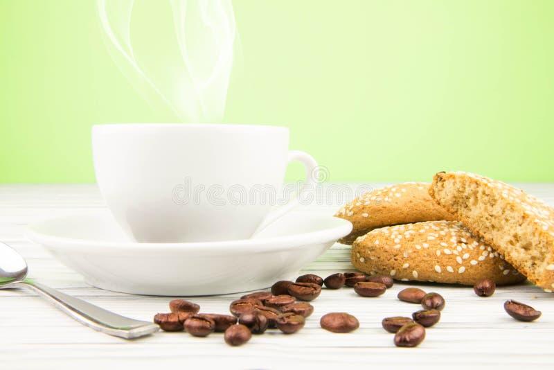 Koffieachtergrond stock fotografie
