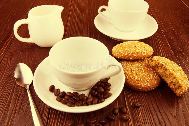 Koffieachtergrond stock afbeeldingen