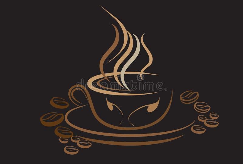 Koffieart. stock illustratie