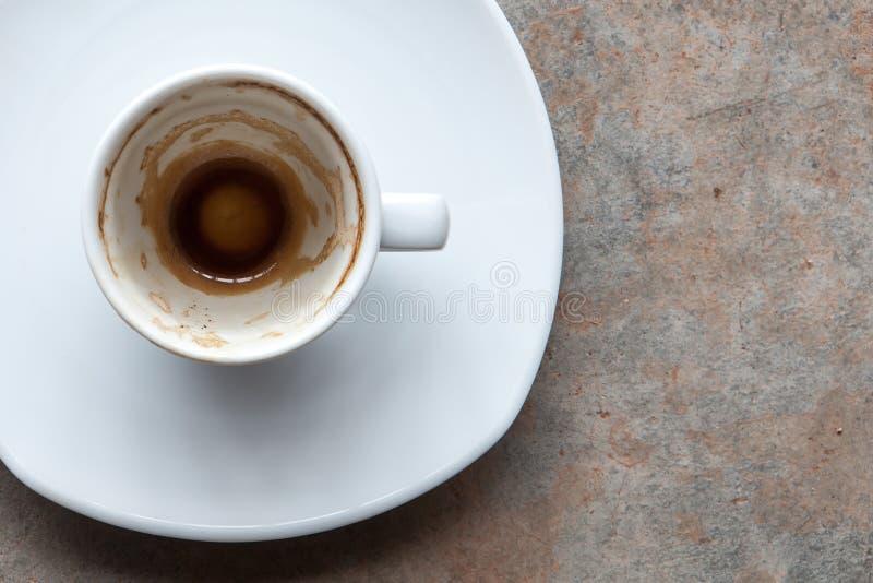 Koffiebodems omhoog stock fotografie