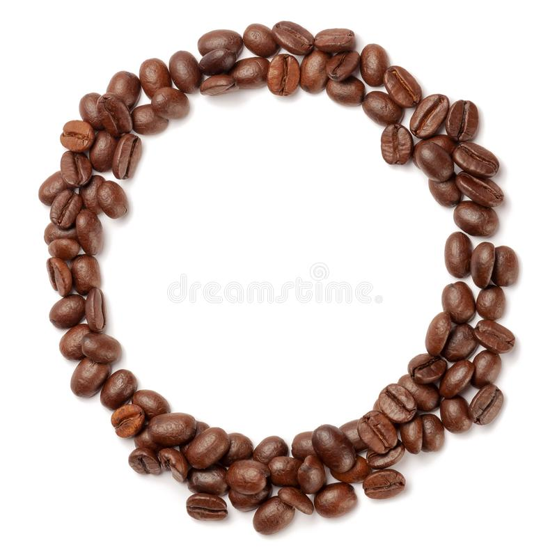 Koffiebonen in de vorm van ring royalty-vrije stock fotografie