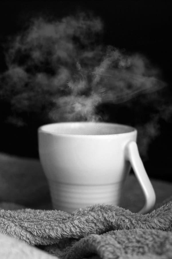 Koffiebonen op groene geruite stof royalty-vrije stock foto's
