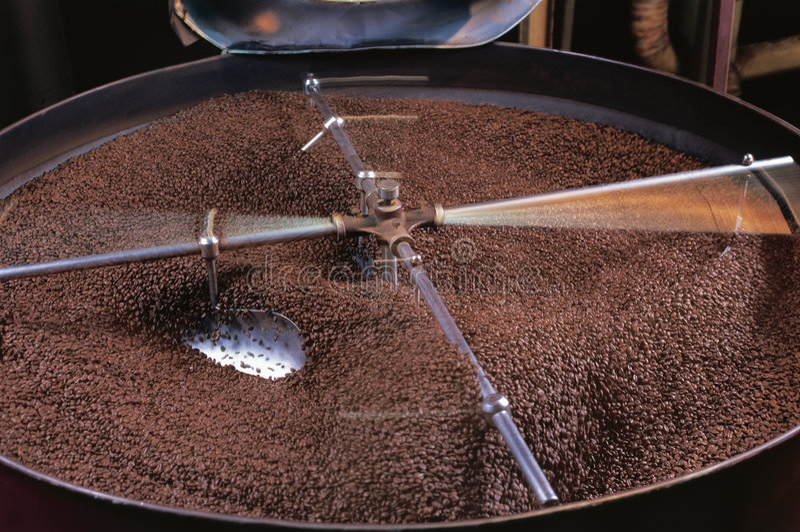 Koffiebrander stock fotografie