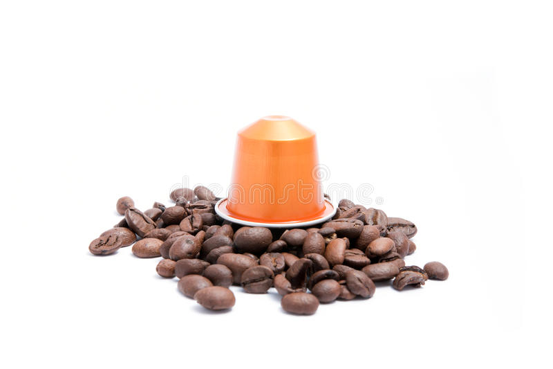 Koffiecapsule royalty-vrije stock afbeelding