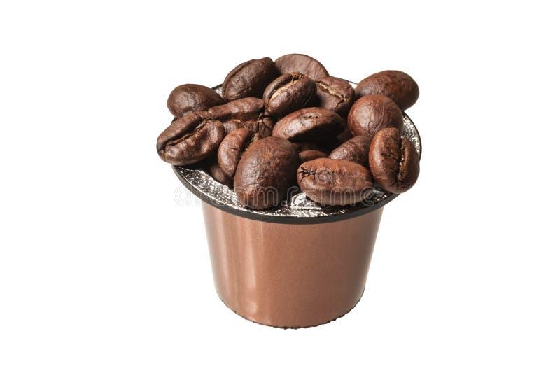 Koffiecapsule royalty-vrije stock afbeeldingen