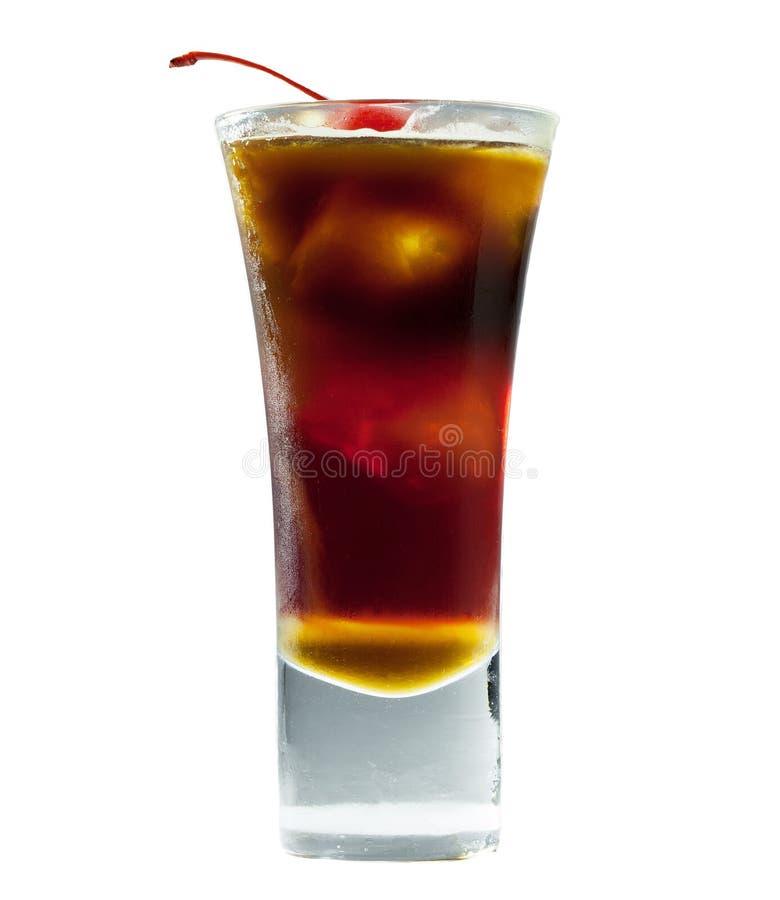 Koffiecocktail met stroop royalty-vrije stock foto